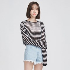 lucky stripe summer long T (5 colors)_(577707)