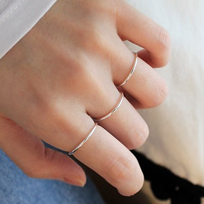 [1+1]실버 심플 반지 silver simple ring