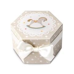 흔들목마 육각 상자 소 (2개)