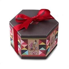 전통조각보 육각 상자 소 (2개)