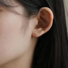 [2컬러] silver dot earring