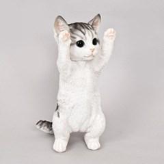잘못했다옹 만세 고양이 장식인형