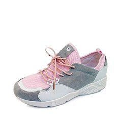 kami et muse Gray suede combi tall up sneakers_KM17s147