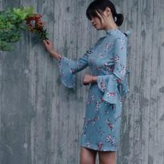 벚꽃피는날에 플라워 미니원피스_(519673)