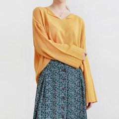 Collar point drop shoulder knit