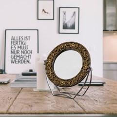 [트리빔하우스] 골드 원형 탁상 거울