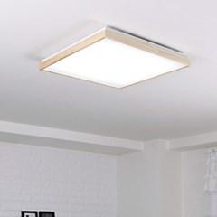 LED 로뎅 정사각 거실등 50W 원목