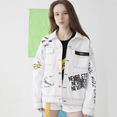 Artist Hommage Denim Trucker Jacket (WHITE)