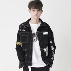 Artist Hommage Denim Trucker Jacket (BLACK)