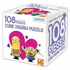 슈퍼배드 큐브 직소 퍼즐 108조각 하트