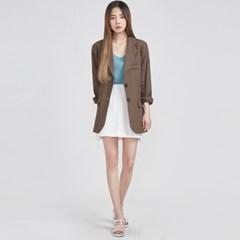 classy hard linen jacket (2 colors)_(583765)