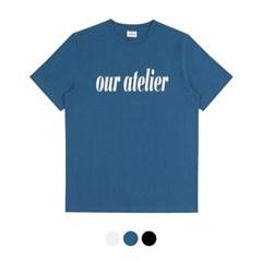 바리케이트 OUR ATELIER 프린팅 티셔츠 - 블루