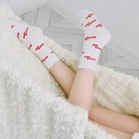 Heart Logo Pattern Socks (2colors)