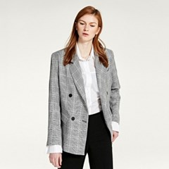 GROOVY DOUBLE CHECK JACKET (BLACK)
