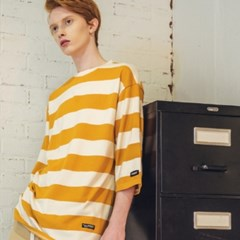 UNISEX Quarter Border Tee-Yellow