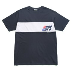 [URBANPLAYERS] RICKY SHORT SLEEVE T-SHIRTS (NAVY)_(648501)
