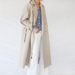 Daily side button trench coat