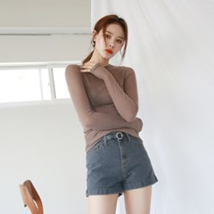 Slim tencel see-through tee
