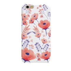 Watercolor Crimson Flower  (HF-147B) Hard Case