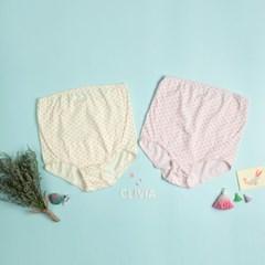 Fine and Simple 도트 임산부용(Maternity) 면스판 팬티(2매입)