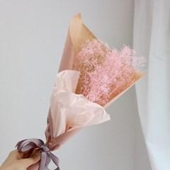 프리저브드 핑크 안개 꽃다발 (시들지않는꽃)