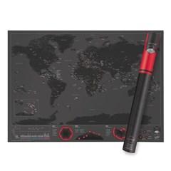 [원더스토어] 럭키스 스크래치 맵 세계지도 캐피탈_(796679)