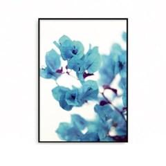 패브릭 포스터 꽃그림 식물액자 블루플라워 A2 A1