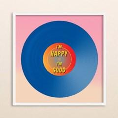 LP 메탈 액자 - I'm happy