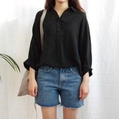 Cool collar blouse
