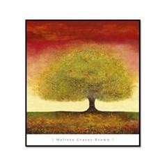 명화 인테리어 그림액자 멜리사 Dreaming Tree Red