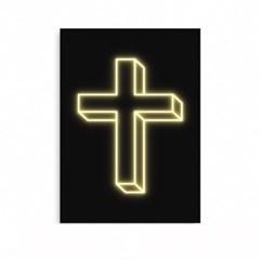 인테리어 말씀액자 네온사인 십자가 A3 A2 A1