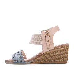 kami et muse Punching strap pattern wedge sandals_KM17s197
