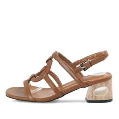 kami et muse Hole point 6cm heel strap sandals _KM17s201