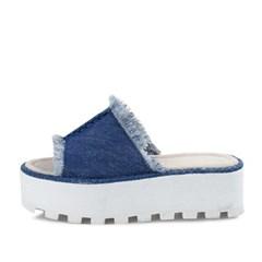 kami et muse Vintage fabric platform slippers_KM17s200