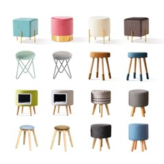 파로마 원목쿠션의자/화장대의자/의자/스툴의자(착불)