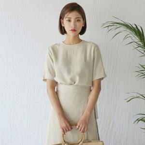 simple mood linen blouse
