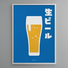 일본 인테리어 디자인 포스터 M 생맥주 일본소품