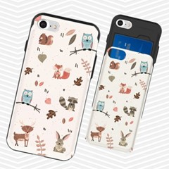냥코케이스 슬라이더케이스 숲속동물친구들(forestanimal)