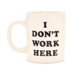 hot stuff ceramic mug, i don't work here