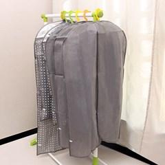 [올리빙] 간편 옷커버 양복 5P 그레이_(12014300)