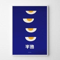 일본 인테리어 디자인 포스터 M 반숙계란 일본소품