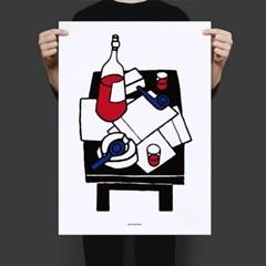 유니크 인테리어 디자인 포스터 M 위스키앤시가렛