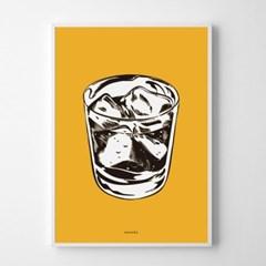 유니크 인테리어 디자인 포스터 M 위스키온더락