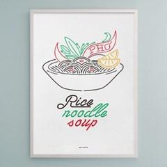 유니크 인테리어 디자인 포스터 M 베트남쌀국수