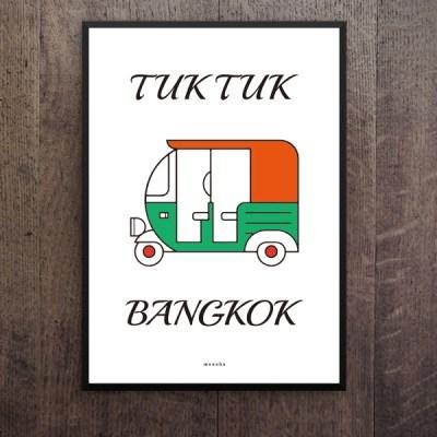 유니크 인테리어 디자인 포스터 M 타일랜드3 툭툭 태국소품