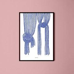 일본 인테리어 디자인 포스터 M 노렌 일본소품