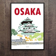 일본 인테리어 디자인 포스터 M 오사카성 일본소품