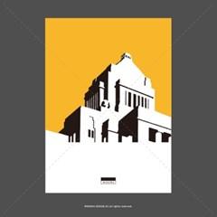 유니크 인테리어 액자 디자인 포스터 M 뮤지엄