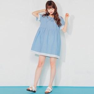 쁘띠 리본 blue lace mini OPS