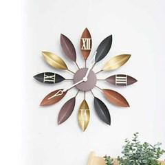 골드플라워 벽시계